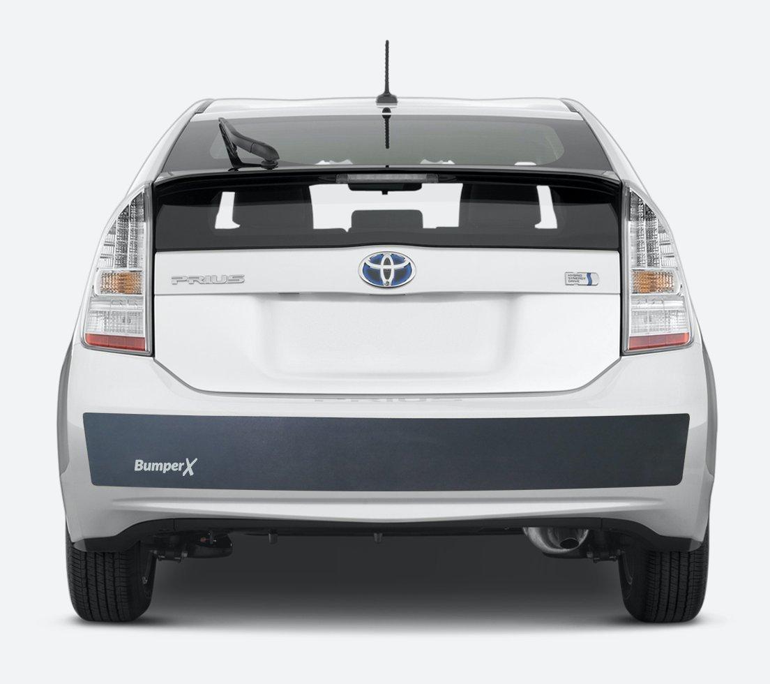 BumperX (6x62, white logo) Bumper Protection & Guard. Bumper repair alternative. Protect your rear car bumper. Peel & stick rubber bumper guard