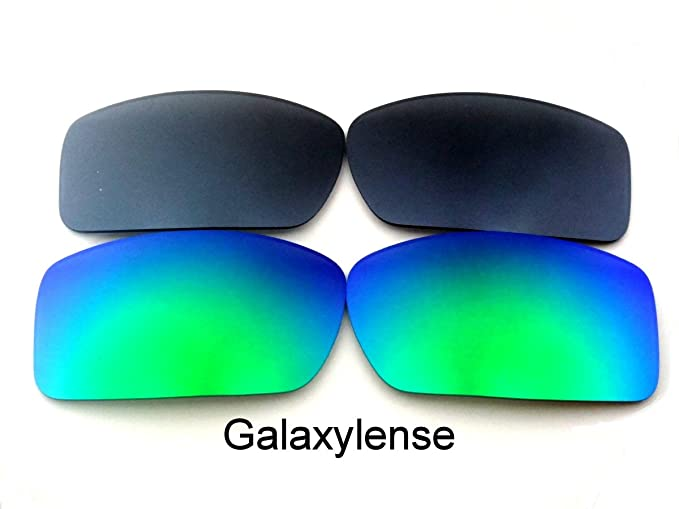 Galaxylense lentes de repuesto para Oakley Gascan verde y gris Color Polarizados 2 Pares