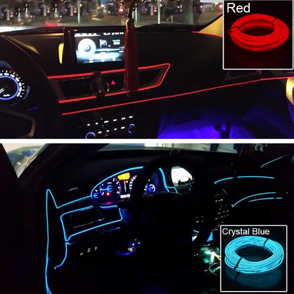 Tiras L/íneas de Molduras Interior del Coche 5m Rojo AUTOMAN 16.4 Pies Decoraci/ón Moulding Trim Strip l/ínea Para la Mayor/ía de los Autom/óviles