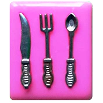 Fairie Blessings - Molde de silicona para horquilla y cuchara de cubertería para decoración de tartas y cupcakes: Amazon.es: Hogar