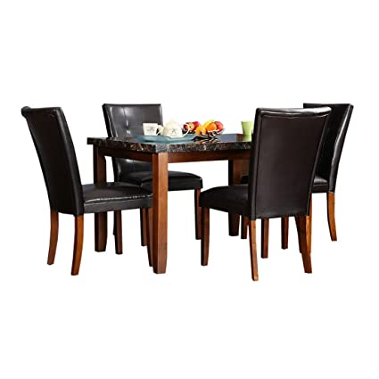 Hometown Eden 4 Seater Dining Table Set (Walnut)  Amazon.in  Home   Kitchen 56e6908cf