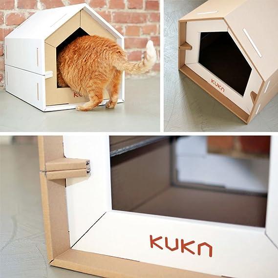Kuka – Juego de 2 perreras ecológicas de diseño de caseta para perros y gatos – Talla S: Amazon.es: Hogar
