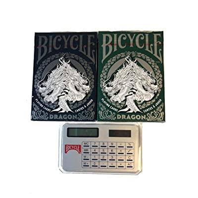 Bicycle Playing Cards Blue and Green Dragon 2 Pack: Sports & Outdoors