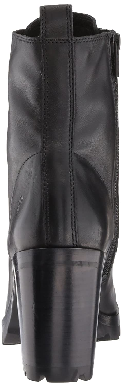 FRYE Women's Myra Lug Combat Boot B01N0U0CB0 10 B(M) US|Black Polished Soft Full Grain