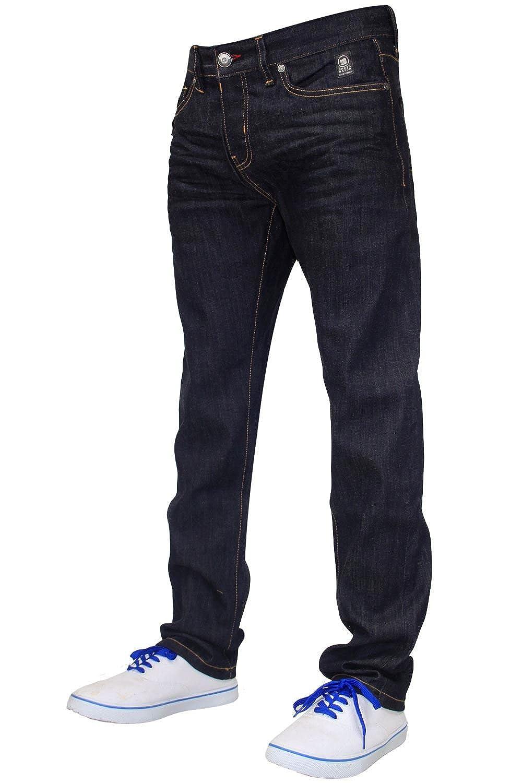 Crosshatch Mens Designer Branded Slim Fit Fashion Jeans w// Free Belt BNWT