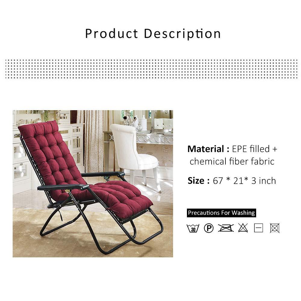 Terrific Scorpiuse Sun Lounger Cushion 67 Inch Lounge Chaise Cushion Sun Lounger Mattress With Non Slip Back Elastic Sleeve For Garden Machost Co Dining Chair Design Ideas Machostcouk