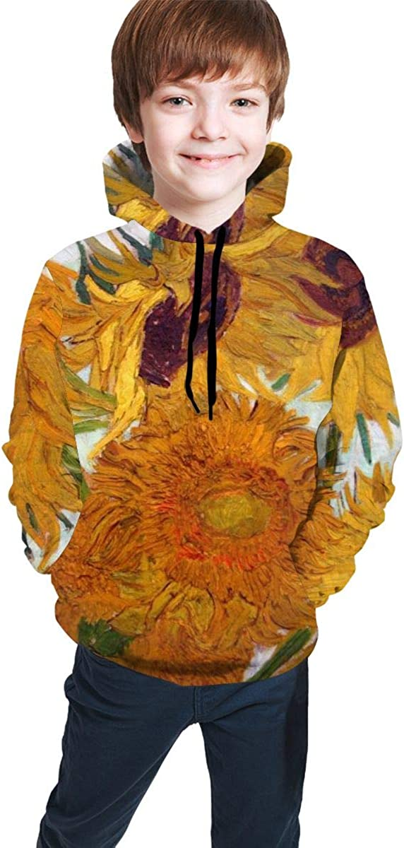 Vintage Sunflowers-1 Men 3D Print Pullover Hoodie Sweatshirt with Front Pocket