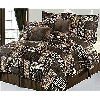 Amazon Com 7 Pieces Multi Animal Print Comforter Set