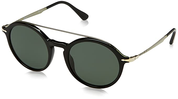 eb9e79d6a7 Amazon.com  Persol Mens Sunglasses Black Green Acetate - Polarized ...