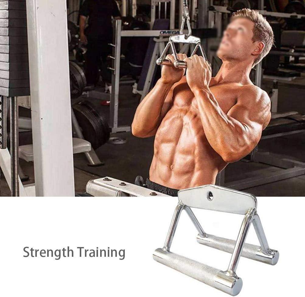 HEREB - Mango de remo paralelo para levantamiento de tríceps, triángulo de agarre paralelo, mango en V, equipo deportivo de entrenamiento de fuerza
