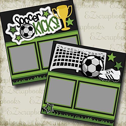 Soccer Scrapbook Page - SOCCER KICKS - Premade Scrapbook Pages - EZ Layout 2576