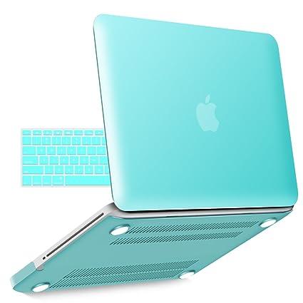 innovative design 19bd1 47dfa iBenzer Old MacBook Pro 13 Inch case A1278, Soft Touch Hard Case Shell  Cover with Keyboard Cover for Apple MacBook Pro 13 with CD-ROM, Aqua  MMP13TBL ...
