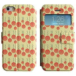 LEOCASE círculos lindos Funda Carcasa Cuero Tapa Case Para Apple iPhone 5 / 5S No.1004464