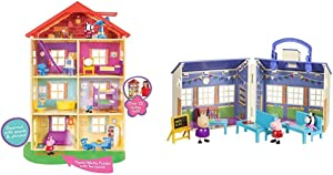 Peppa Pig Lights & Sounds Family Home Feature Playset & s School Playset
