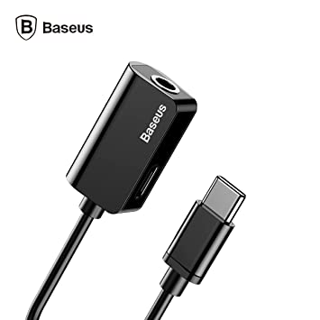 e9227e005a6 Baseus Audio-Adapter Typ C 2-in-1, Audio-Adapter mit: Amazon.de ...