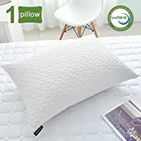 SORMAG Bed Pillows for Sleeping, Adjustable Shredded Memory Foam Pillow, Cooling Bamboo Pillow Neck Support for Back, Stomach, Side Sleepers-Queen Size