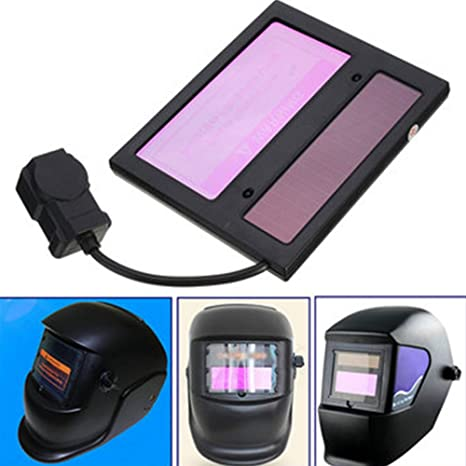 Xpccj Solar Auto Darkening Soldadura Casco Lente Filtro Pantalla, oscurecimiento Horizontal Filtro máscara Lente automatización