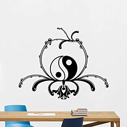 d2203c0756 Image Unavailable. Image not available for. Color: Yin Yang Wall Decal ...