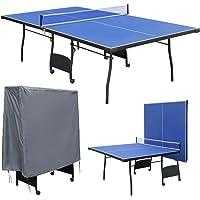 hj Mesa de Ping Pong, Profesional Plegable y Movible con 9 Pies 274*152.5*76cm, Nueva Producción!