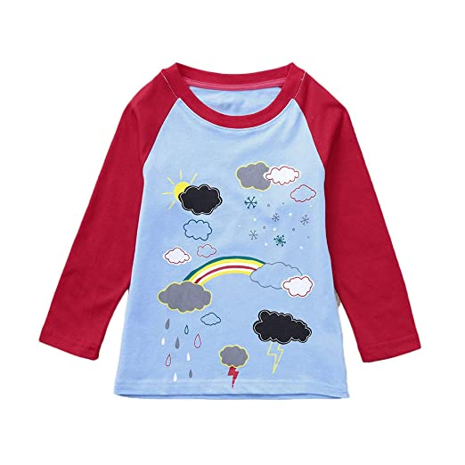 640985d60 Oldeagle Baby Outfits, Infant Baby Girl Long Sleeve Rainbow Print T Shirt  Tops Outfits (