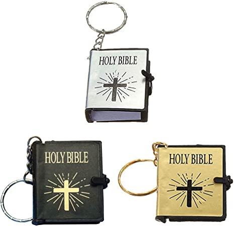 Amazon.com: Llavero de la Biblia, 12 piezas, en miniatura ...