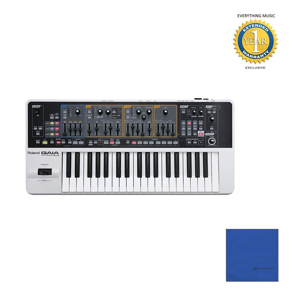 Roland GAIA SH-01 37-key Virtual Analog Synthesizer with Microfiber and 1 Year Everything Music Extended Warranty by Roland