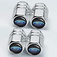 mmmm 4 Pcs Tire Valve Stem Caps Suit for Ford Car Wheel Tire Valve Stem Caps Suit for Ford Explorer F-150 F250 F350 F450…
