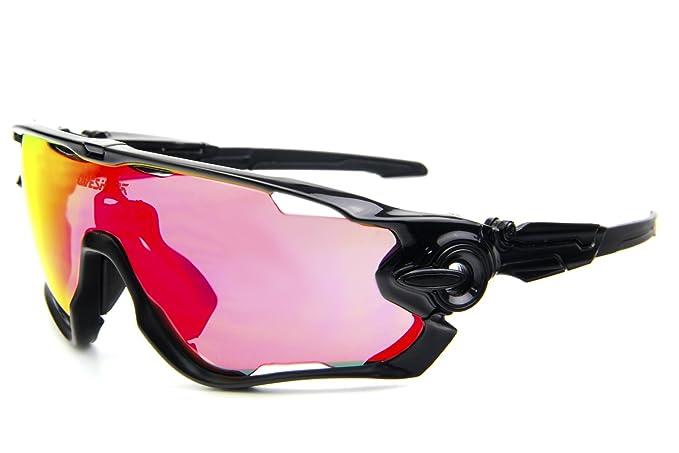 ab30309779 Queshark TR90 Frame Polarized Cycling Sunglasses For Men Women Sports 3 Lens  (Black