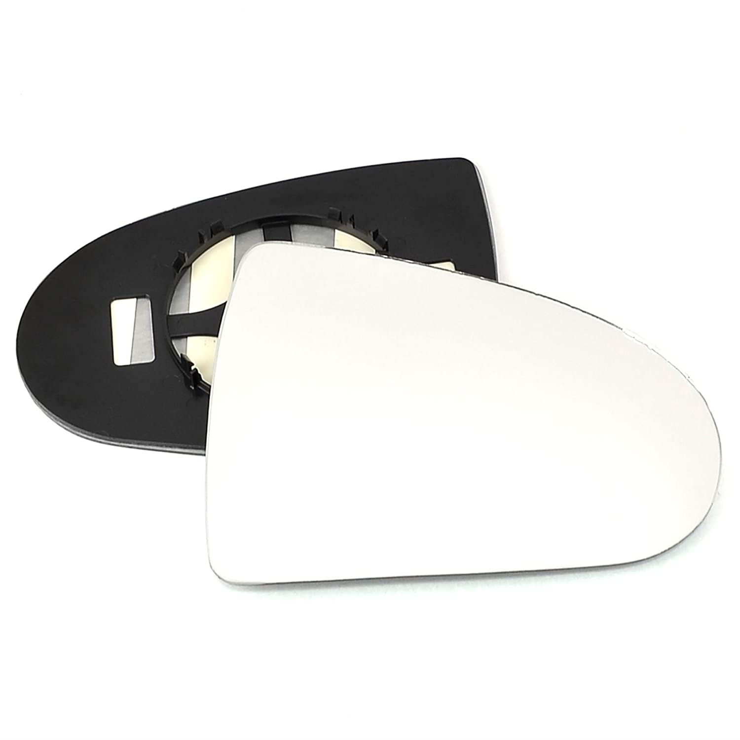 Clip On Driver right hand side wing door Silver mirror glass with backing plate #C-SN//R-MICT02