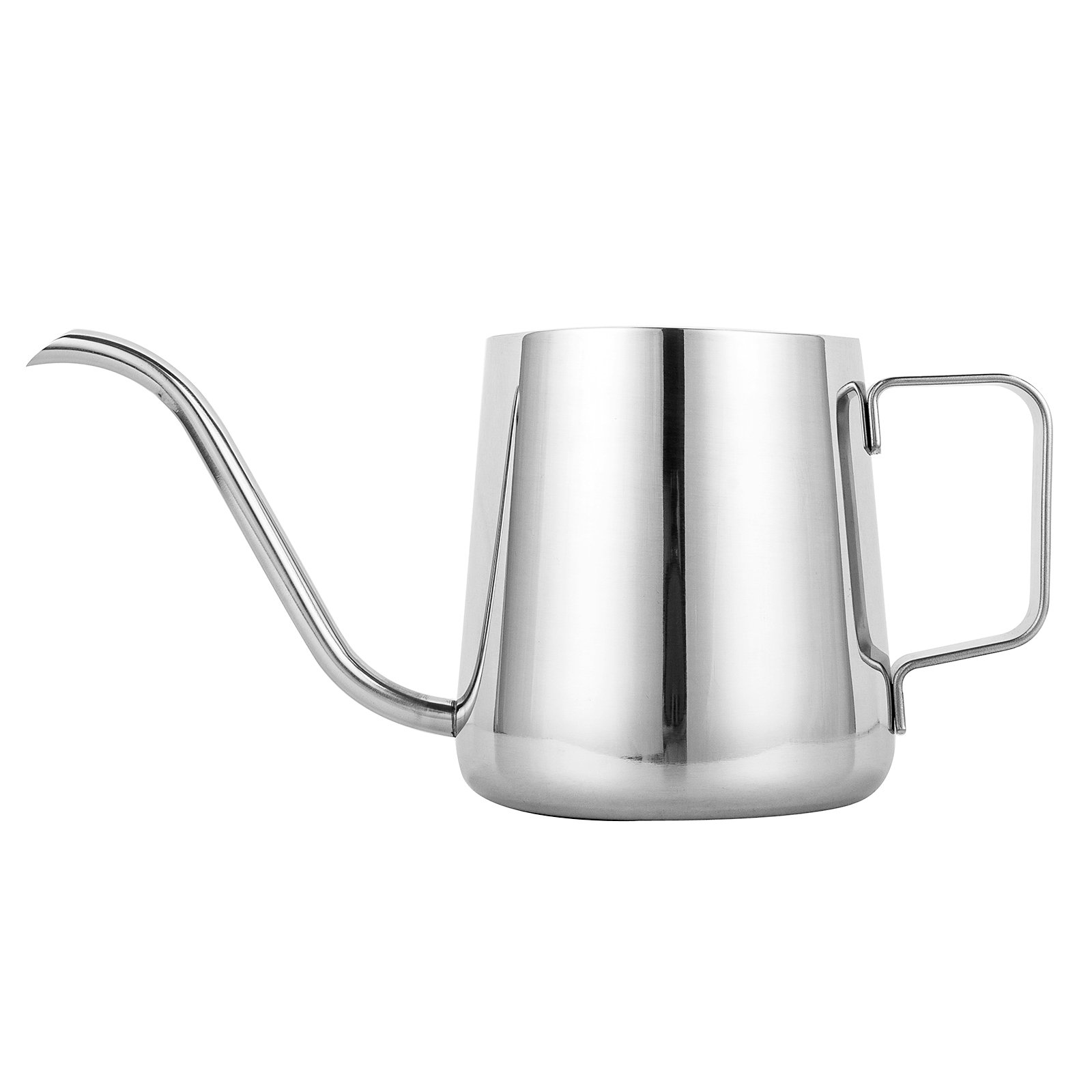 TOP-MAX Long Narrow Spout Coffee Pot (12oz /350ML) - 304 Stainless Steel with Hanging Ear Hand Blunt Pouring Over Gooseneck Kettle for Coffee & Tea