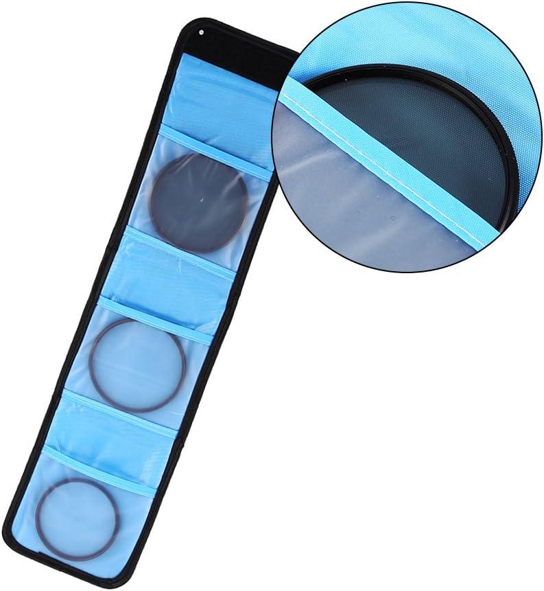 Oumij Camera Filter Case 3 Pockets Bag Camera Filter Wallet Lens Adapter Lens Filter Wallet Case Ring Storage Bag Case