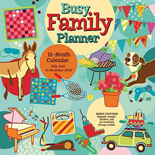 Busy Family 2020 18-Month Wall Calendar Planner: by Sellers Publishing