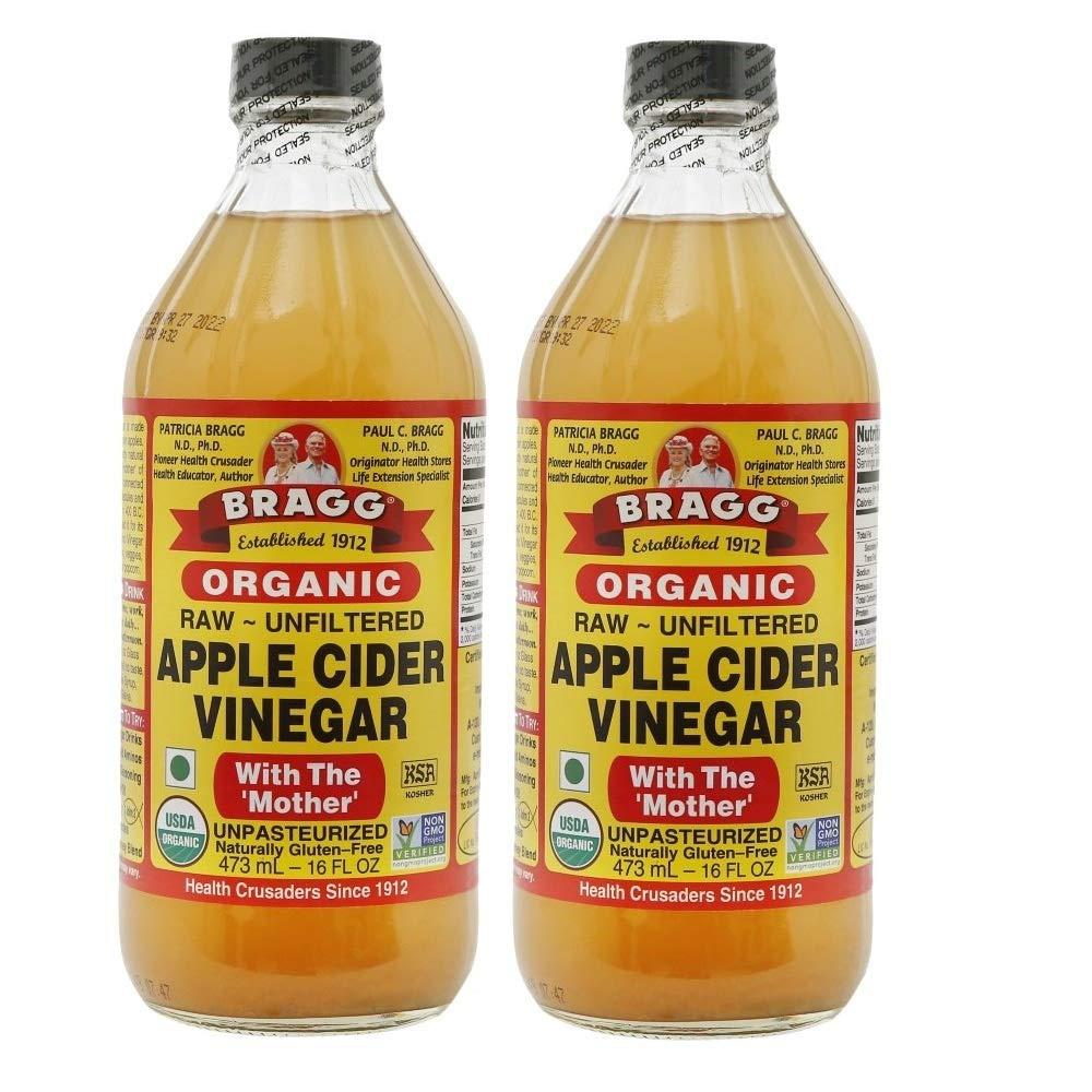Bragg Organic Unfiltered Apple Cider Vinegar, Raw, 16 Ounce