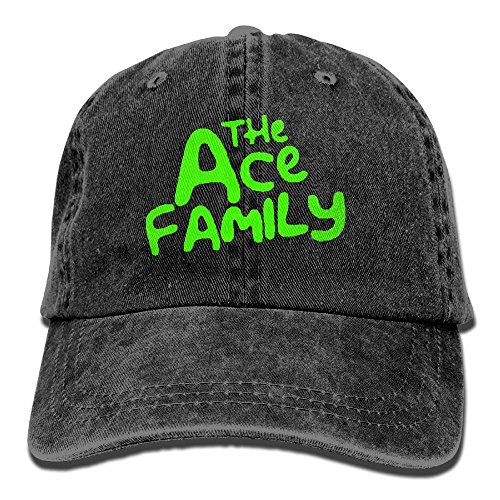 Mike Tanner ACE Family Logo Unisex Washed Baseball Cap Adjustable Cowboy Cotton Ball Hat (Debbie Reynolds Halloween)