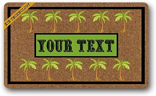 Artsbaba Personalized Your Text Doormat Black Cats Doormats Monogram Non-Slip Doormat Non-Woven Fabric Floor Mat Indoor Entrance Rug Decor Mat 30 x 18