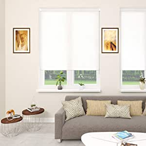Blinds2Curtains Polyester Ivory 250 cm x 150 cm Screen 5 Screen Roller Blind