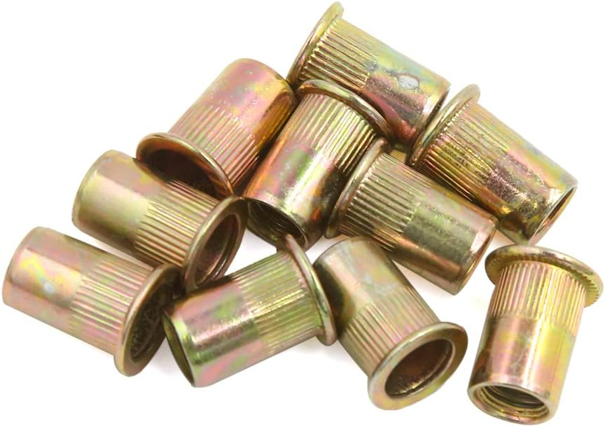 20 pieces M8 Car Bronze tone Carbon steel thread Half hexagon rivet nut Nuts
