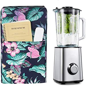 Kitchen Blender Covers, Quilted Polyester Cover Blender, Dust-proof Organizer Blender Cover Kitchen Mixer Protector Anti Fingerprint Mixer Covers. (Tropical Flower)