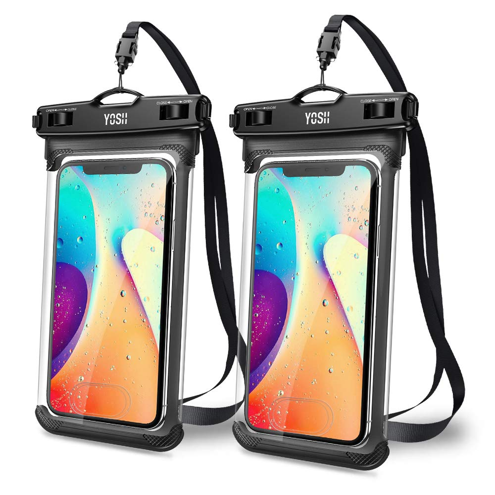 YOSH Waterproof Phone Pouch Waterproof Phone Case Cell Phone Dry Bag Underwater Phone Pouch Compatible with iPhone Xs Max XR Xs X 8 7 6 6S Plus Galaxy S10 S10e S9 S8 Plus Note 9 Pixel 3 2 up to 6.7'' by YOSH