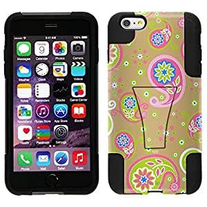 Trek Hybrid Stand Case for Apple iphone 5 5s - Cute Paisley on Beige
