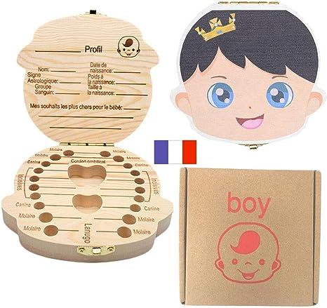 Caja de Dientes para niños, Organizador de Almacenamiento Guardar Dientes Decidue Las Cajas de Madera de Recuerdo, Caja de Recogida de Dientes de bebé.: Amazon.es: Bebé