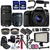 Canon EOS 80D DSLR Camera Bundle with Canon EF-S 18-55mm f/3.5-5.6 IS STM Lens + Canon EF 75-300mm f/4-5.6 III Lens