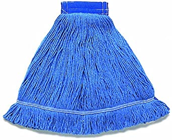 "Wilen A01202, Hospital Pro M Antimicrobial Wet Mop, Medium, 5"" Mesh Band, Blue (Case of 12)"