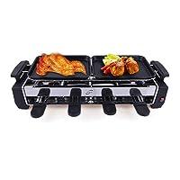 Raclettegrill klein schwarz Grill and Roast Balkon ✔ eckig ✔ tragbar ✔ Grillen mit Elektrogrill ✔ für den Tisch