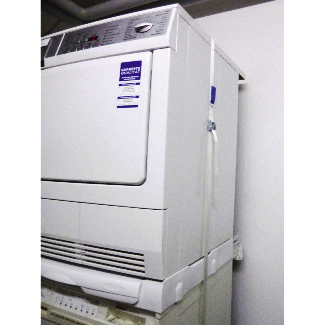 Trockner Und Waschmaschine übereinander xavax zurrgurt mit klemmschloss für waschmaschine und trockner
