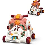 BABY JOY Sit-to-Stand Walker, 3 in 1 Baby Walker, Ride on Car, Game Panel, Kids Multifunctional Activity Center w/Lights…