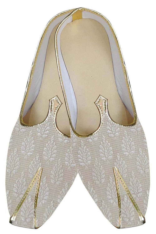 INMONARCH Crema Hombres Zapatos de Boda India imaginativa MJ0166 37.5 EU