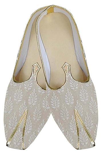 Mens Cream Indian Wedding Shoes Formal MJ0166