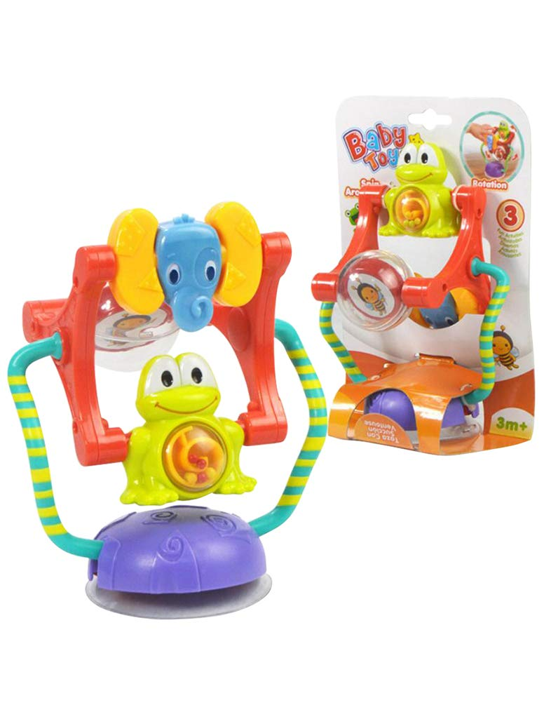 COLOOM Infant Kids Highchair Suction Toy Baby Critters Spin and Discover Ferris Wheel Stroller Toy