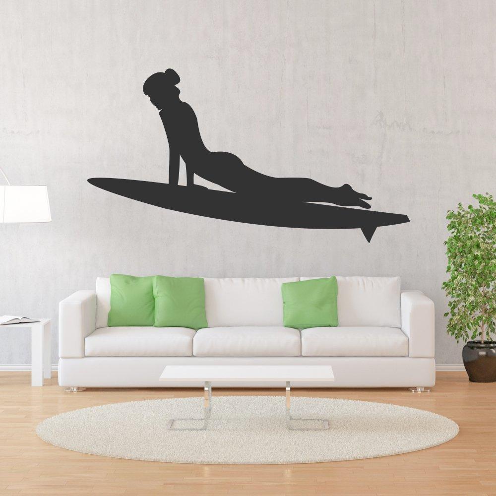 Adhesivo de surfista de tabla de surf navegar por Internet y decoración de la pared de deporte de agua de mar y las olas de pared de la decoración, ...
